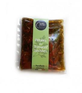 Pétales de tomates séchées Recette Persillade