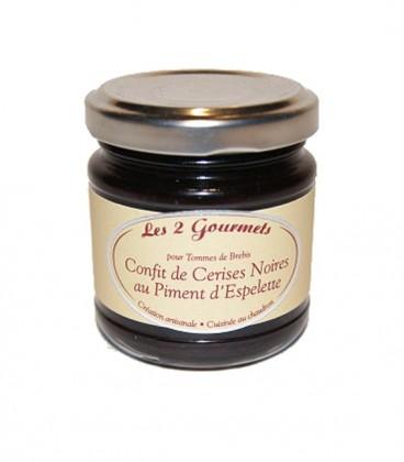 Confit cerises noires au piment d'Espelette